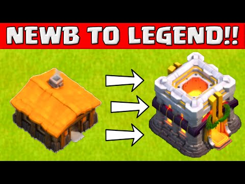Clash of Clans NEWB TO LEGEND! ★ Top 3 Tips For Beginners ★ Early Town hall Strategy Guide ★