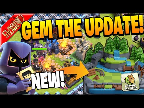 GEMMING THE ENTIRE CLASH OF CLANS SUMMER UPDATE!!