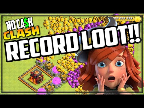 INSANE, Record Loot in NO CASH Clash of Clans!