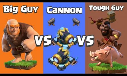 Every Level Cannon VS Hog Rider and Giant | Clash of Clans