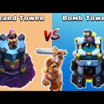 Wizard Tower vs Bomb Tower vs Super Barbarian – Clash of Clans