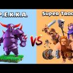 PEKKA VS SUPER TROOPS – Clash of Clans Gameplay