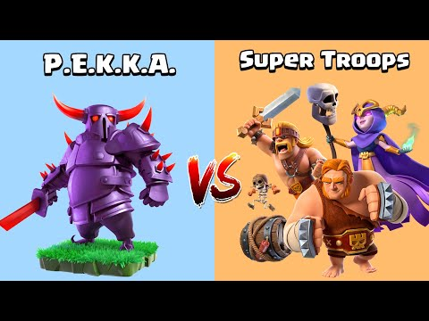 PEKKA VS SUPER TROOPS – Clash of Clans Gameplay