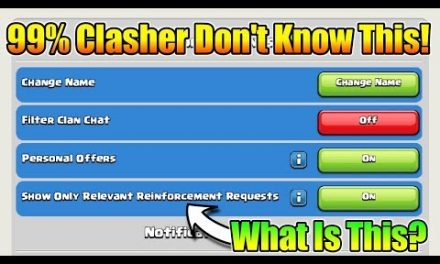 Only 1% Clasher Know This Secret Feature In Clash Of Clans | New Option In Menu