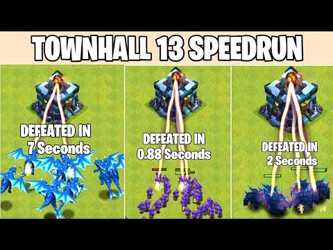 Townhall 13  SpeedRun | Clash Of Clans
