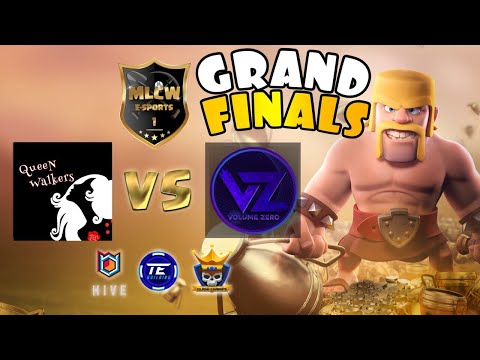 PREPARE FOR WAR!! MLCW Grand Finals | Queen Walkers vs Volume Zero | Clash of Clans eSports