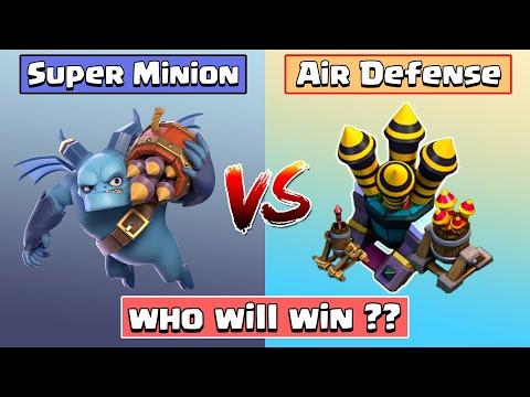 Every Level Air Defense Vs Super Minion | Clash of Clans