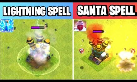 Santa Spell Vs Lightning Spell | Spell Comparison | Clash of clans Winter Update