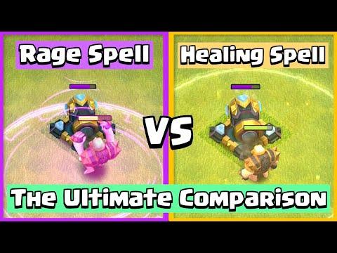 Healing Spell VS Rage Spell | Clash of Clans