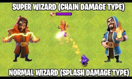 Super Wizard Vs Normal Wizard | Full Comparison | Clash of clans Winter Update