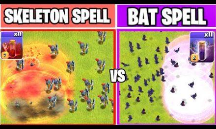 BAT SPELL Vs SKELETON SPELL | Spell Comparison | Clash of clans