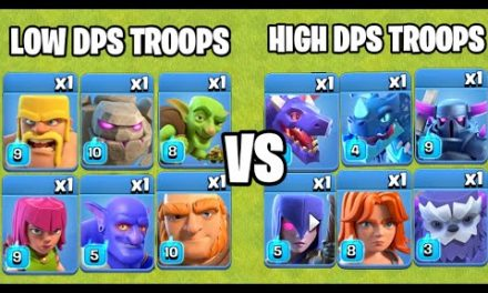 High DPS Troops Vs Low DPS Troops   Troops Comparison   Clash of clans