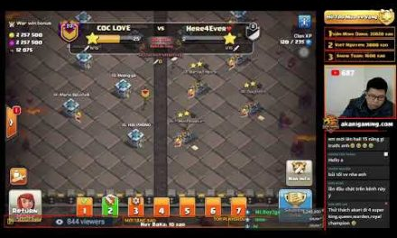 COC LOVE vs HERE4EVER CWL TH13 ATTACK Clash of clans | Akari Gaming