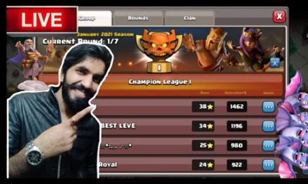 CHAMP 1…CLAN WAR LEAGUE..LIVE ATTACKS ON TOP PLAYERS…CLASH OF CLANS…COC…