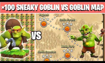 ×100 Sneaky Goblins Vs Goblin Map | Clash of clans