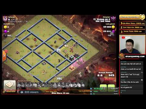 COC LOVE vs HÀN QUỐC (KOREA) CWL TH13 ATTACK Clash of clans | Akari Gaming