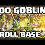 300 GOBLINS vs. THE Troll Base! No Cash Clash of Clans!