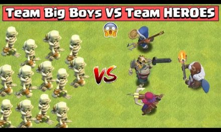 Big Boy Vs All Max Heroes | Clash of Clans