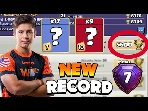 NEW RECORD! top player in Clash of Clans!