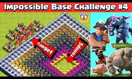 Impossible Base Challenge #4 with Inferno Tower and X-Bows | Clash of Clans