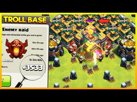 BEST TH14 BATTLE BUILDER HUT TROLL BASE – NEW CLASH OF CLANS UPDATE